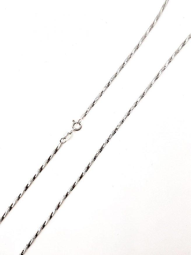 Silber Halsketten-Snake-Design 64 1