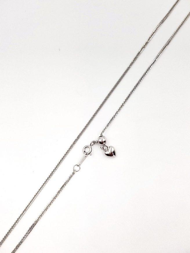 Silber Halsketten mit Herz Anhänger 1