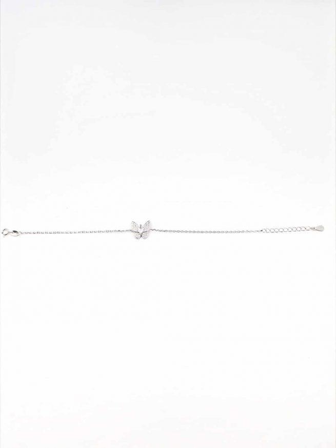 Schmetterlinge Silber Armband 3