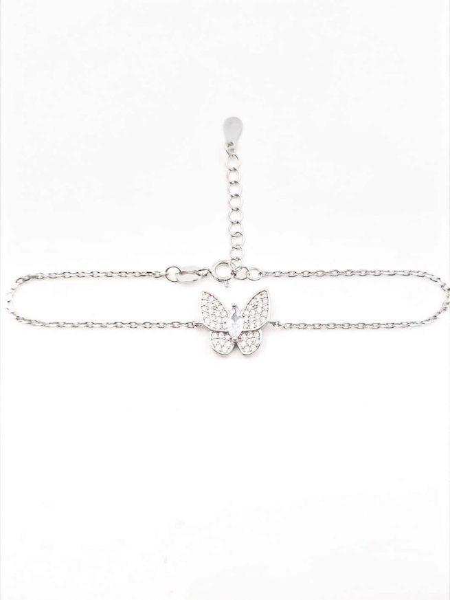 Schmetterlinge Silber Armband 2