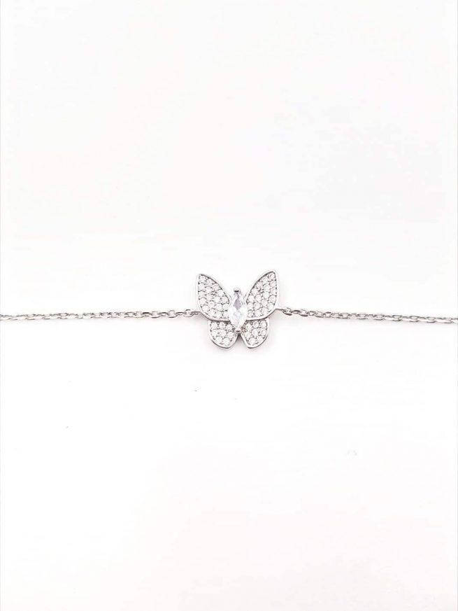 Schmetterlinge Silber Armband 1