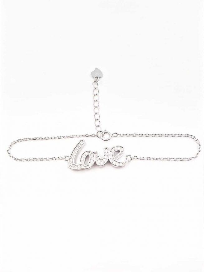 Love Silber Armband 2