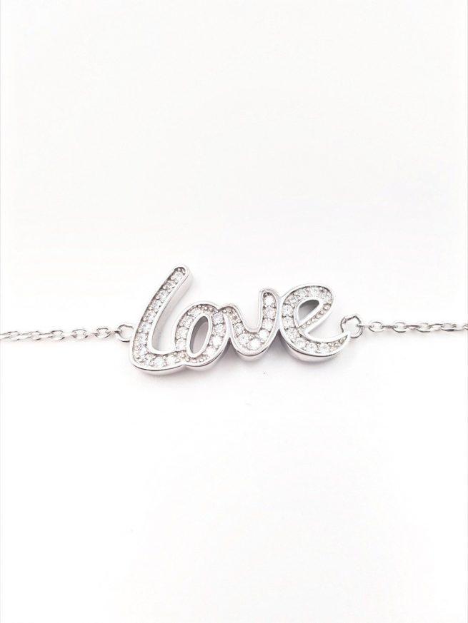 Love Silber Armband 1