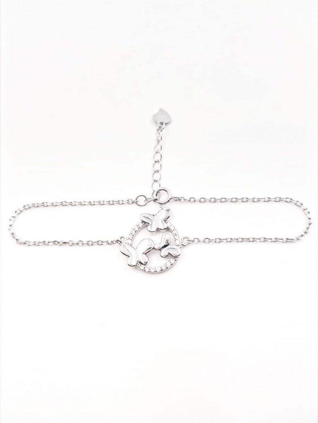 Schmetterlinge Silber Armband lll 2