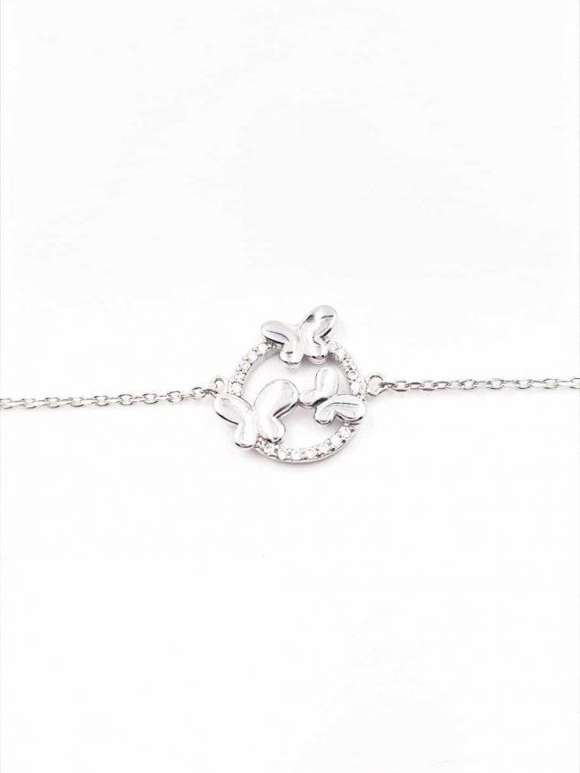 Schmetterlinge Silber Armband lll 1