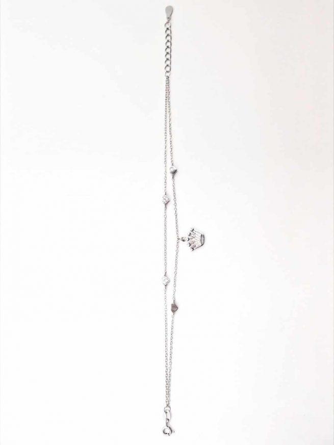 Krone Silber Armband II 4