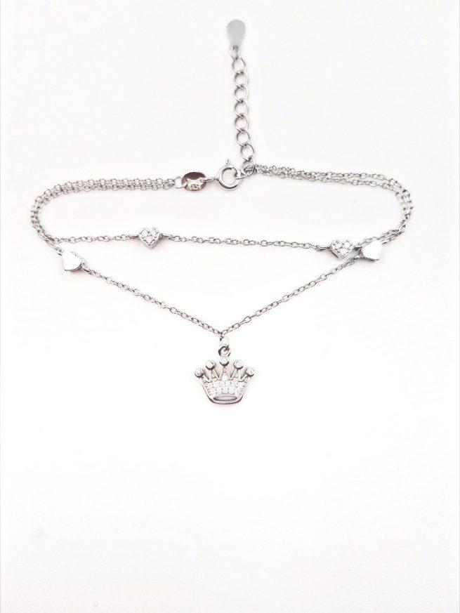 Krone Silber Armband II 2