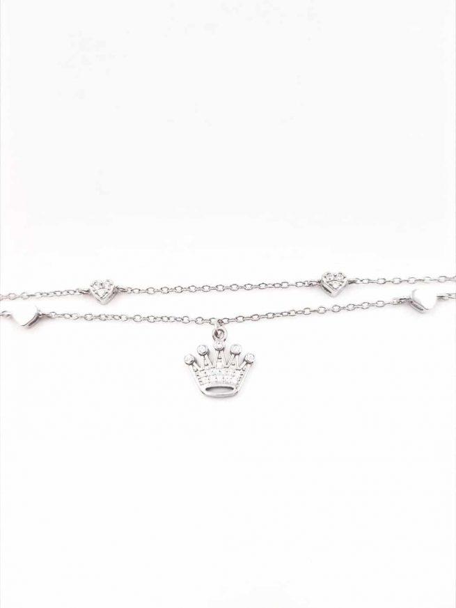 Krone Silber Armband II 1