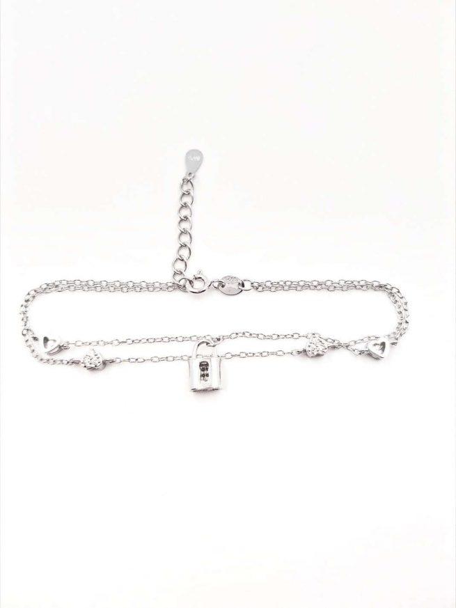 Liebesshloss Silber Armband 2