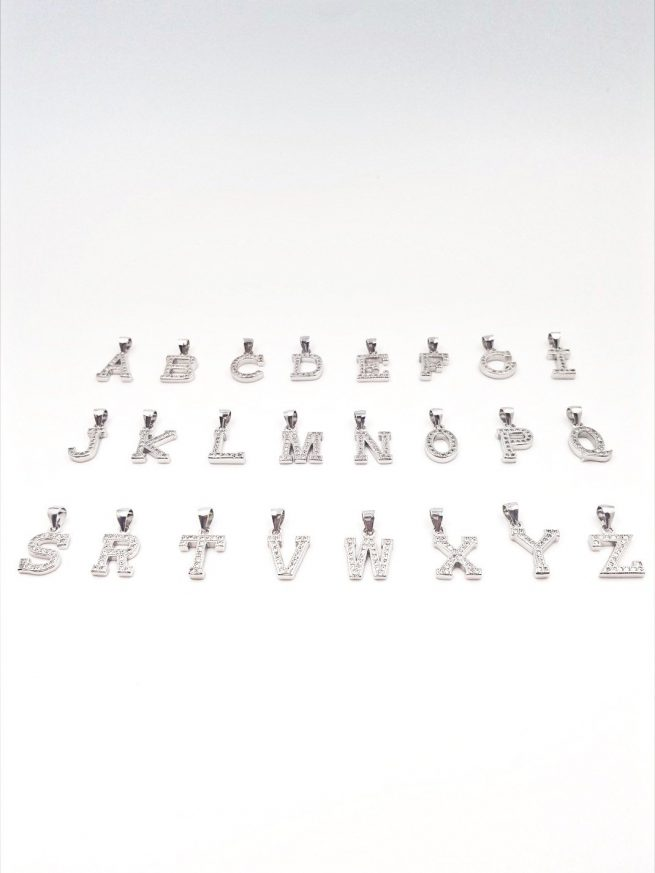 Buchstaben  A-Z Silber Anhänger 1