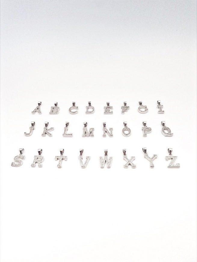 Buchstaben  A-Z Silber Anhänger 3