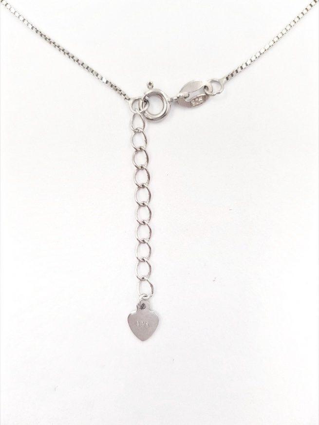 Silber Halskette mit elegante Kreuz Anhänger 1