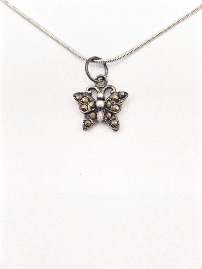 Schmetterlinge Silber Anhänger 2