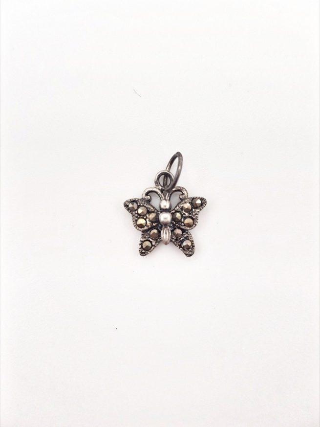 Schmetterlinge Silber Anhänger 1