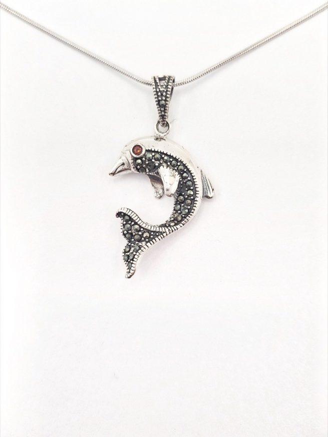 Delfin Silber Anhänger 2