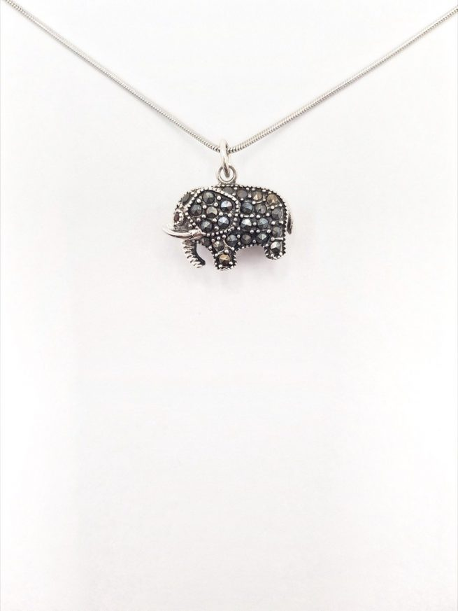 Elefant Silber Anhänger 2