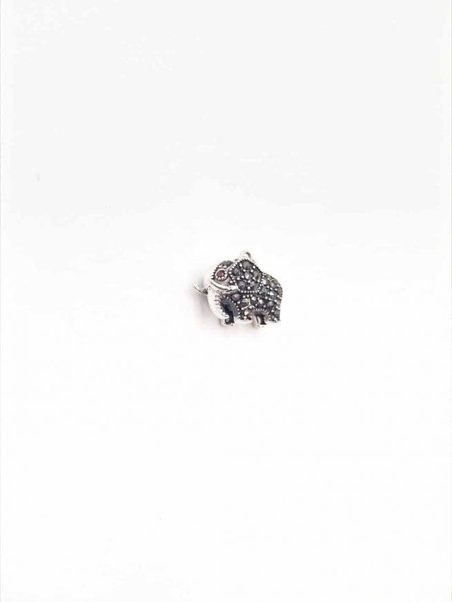 Elefant Silber Anhänger 3
