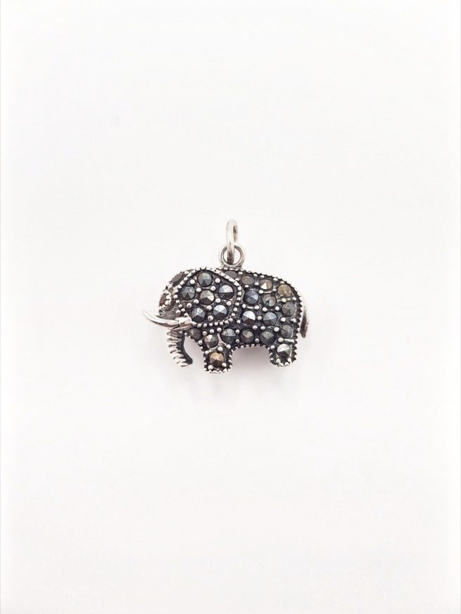 Elefant Silber Anhänger 1