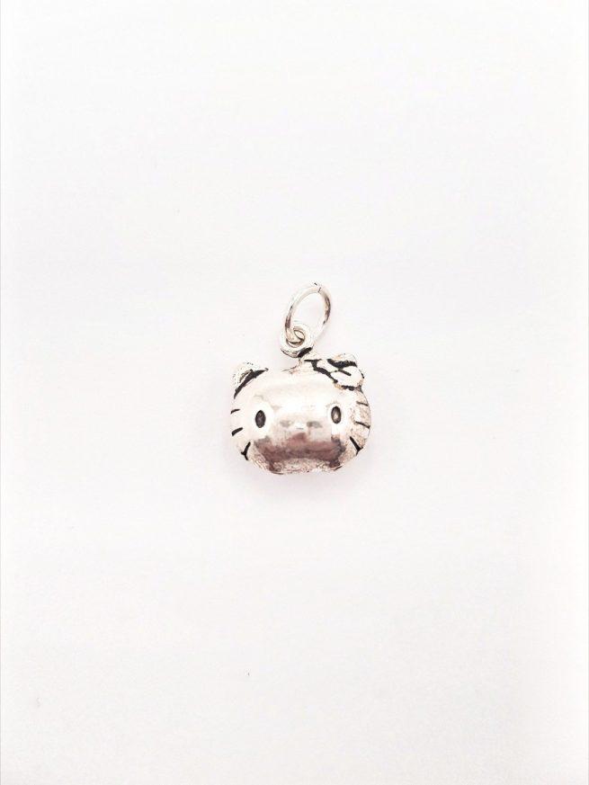 Hello Kitty Glocke Silber Anhänger 1