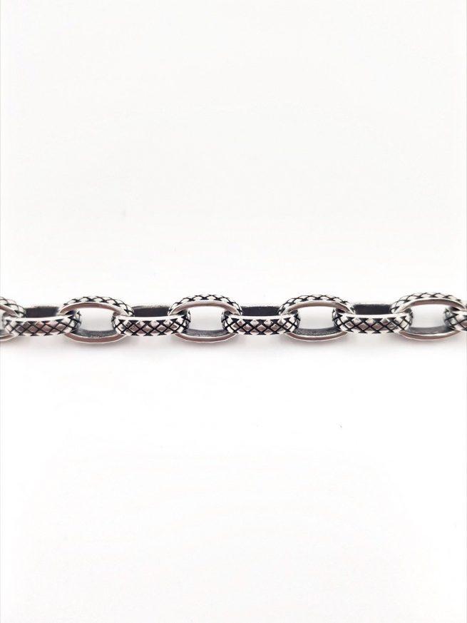 Schlangenhaut Silber Armband 1