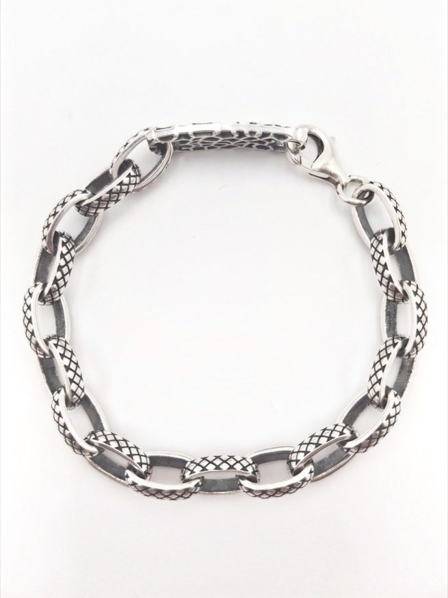 Schlangenhaut Silber Armband 2