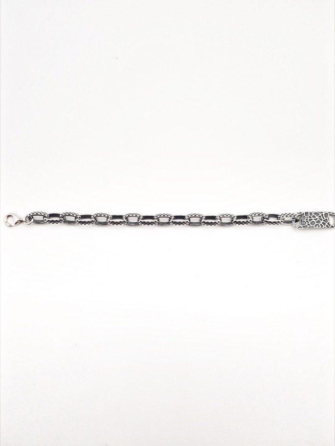 Schlangenhaut Silber Armband 3