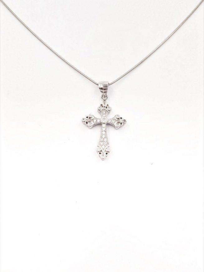 Kreuz lll Silber Anhänger 2