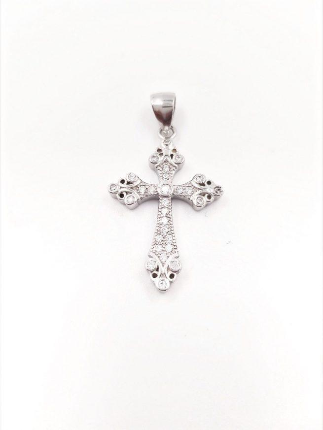 Kreuz lll Silber Anhänger 1