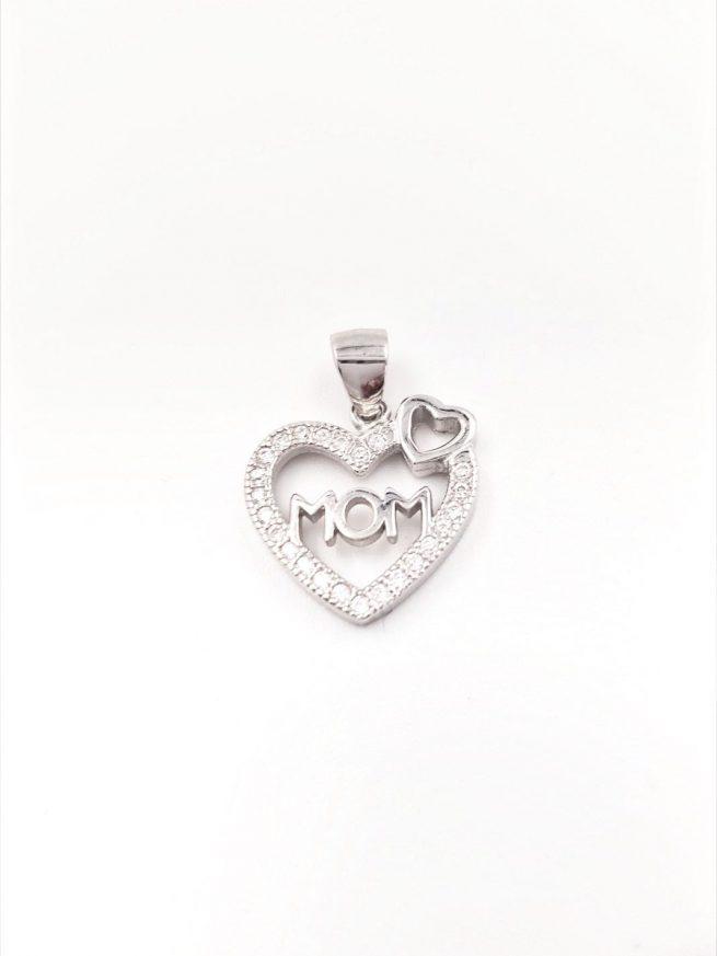 Love Mom Silber Anhänger 1