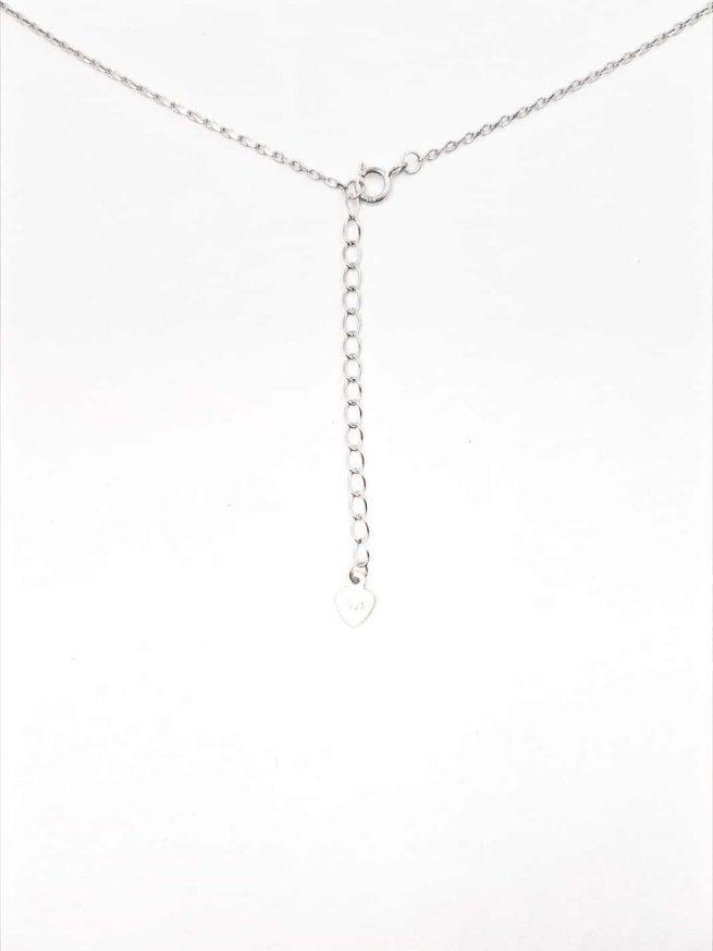 Silber Halskette mit Ahornblatt Anhänger Set 1