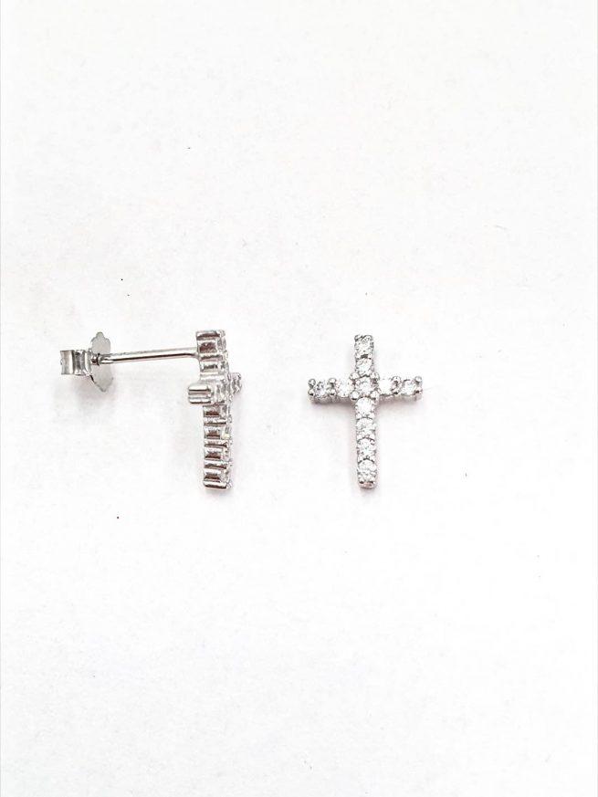Kreuz Silber Ohrringe 2