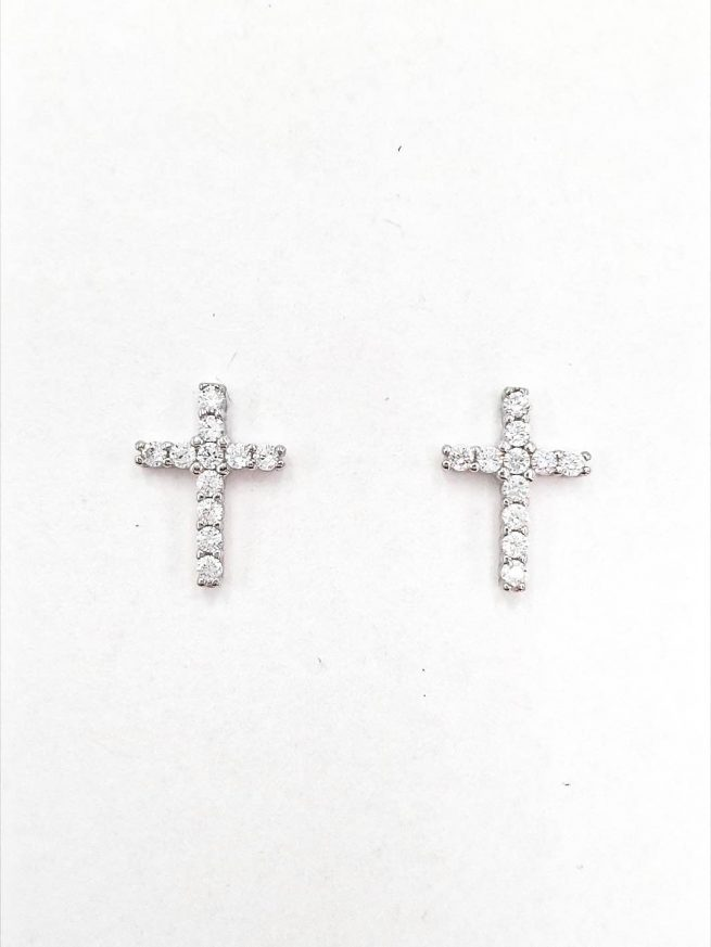 Kreuz Silber Ohrringe 1