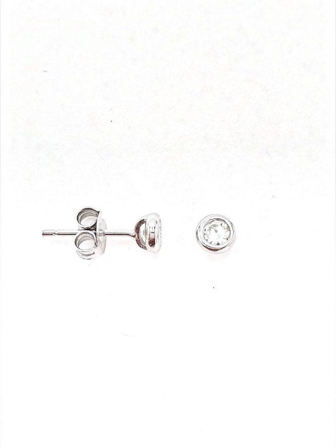 Ohrstecker aus Silber 925 mit Zirkonia Stein 2