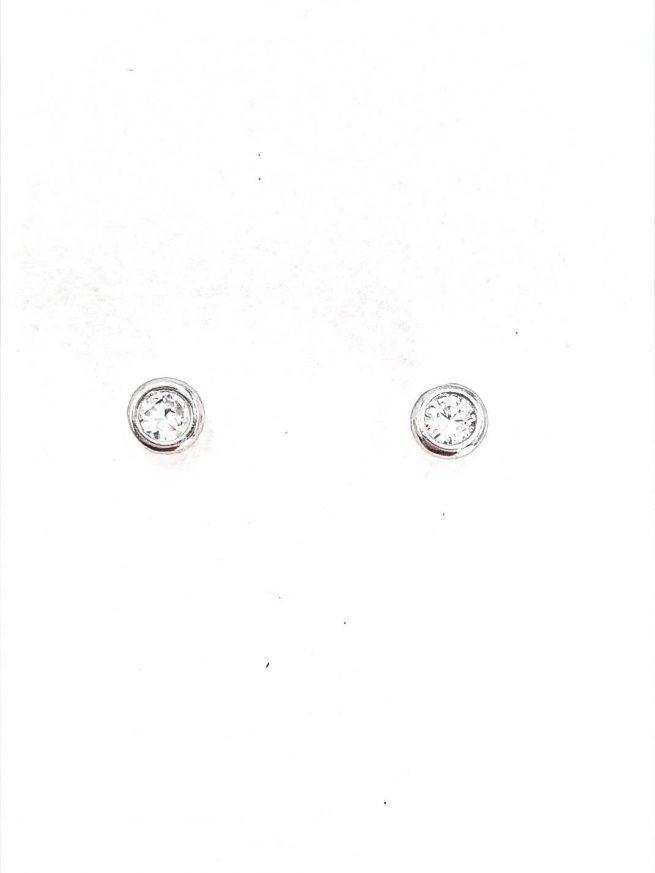 Ohrstecker aus Silber 925 mit Zirkonia Stein 1