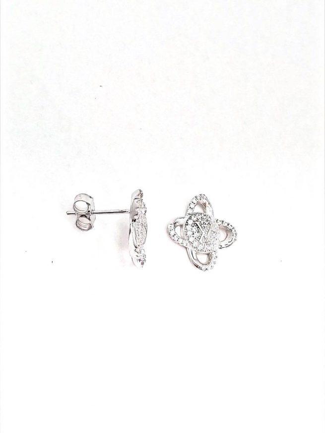 Blumen Ohrringe LV - Silber Ohrringe 1