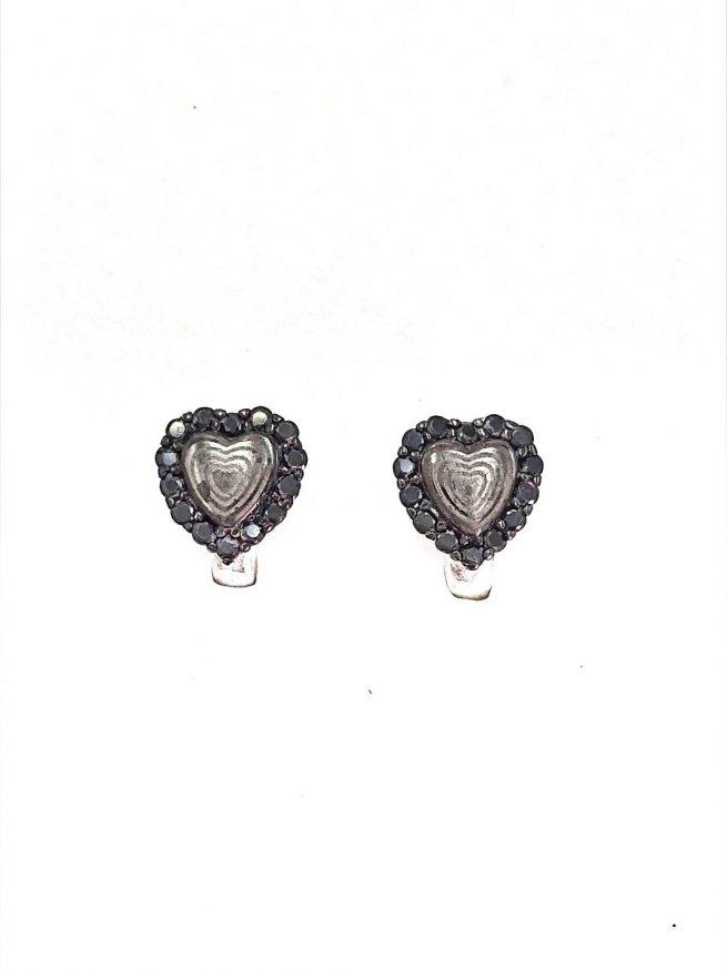 Black Heart Silber Ohrringe 1