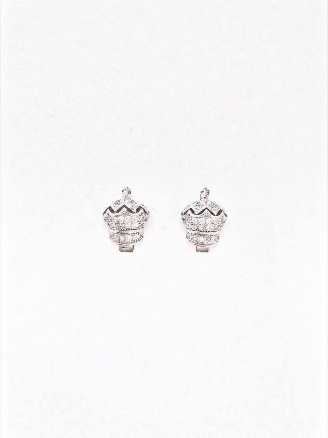 Königin Silber Ohrringe II 1