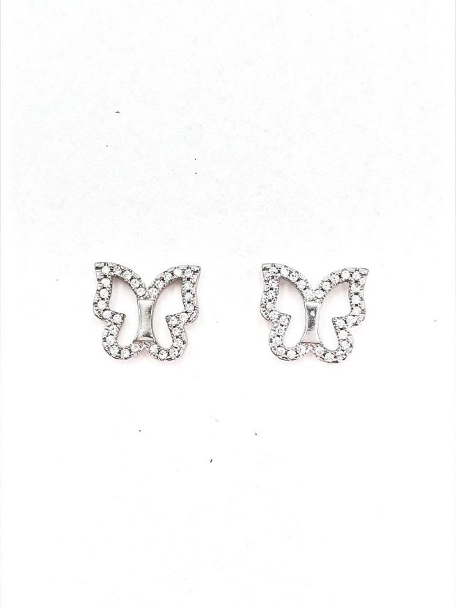 Schmetterlinge aus Silber Ohrringe 1