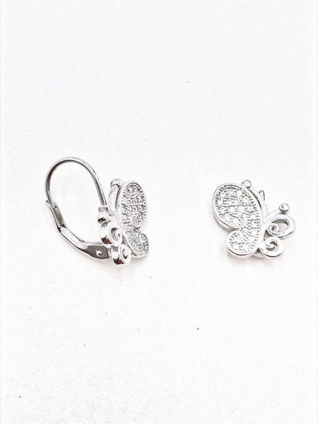 Schmetterlinge  Silber Ohrringe II 2