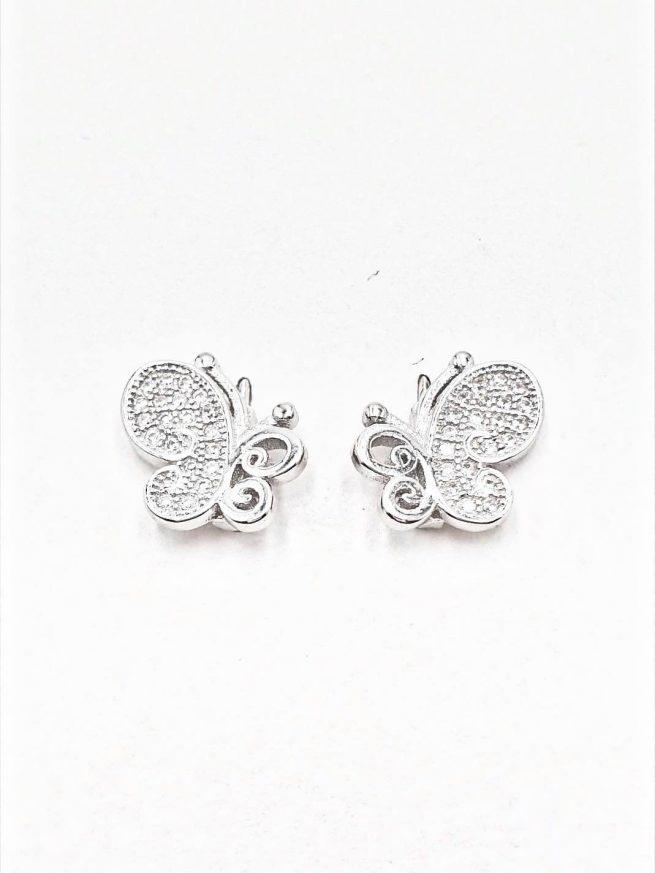 Schmetterlinge  Silber Ohrringe II 1