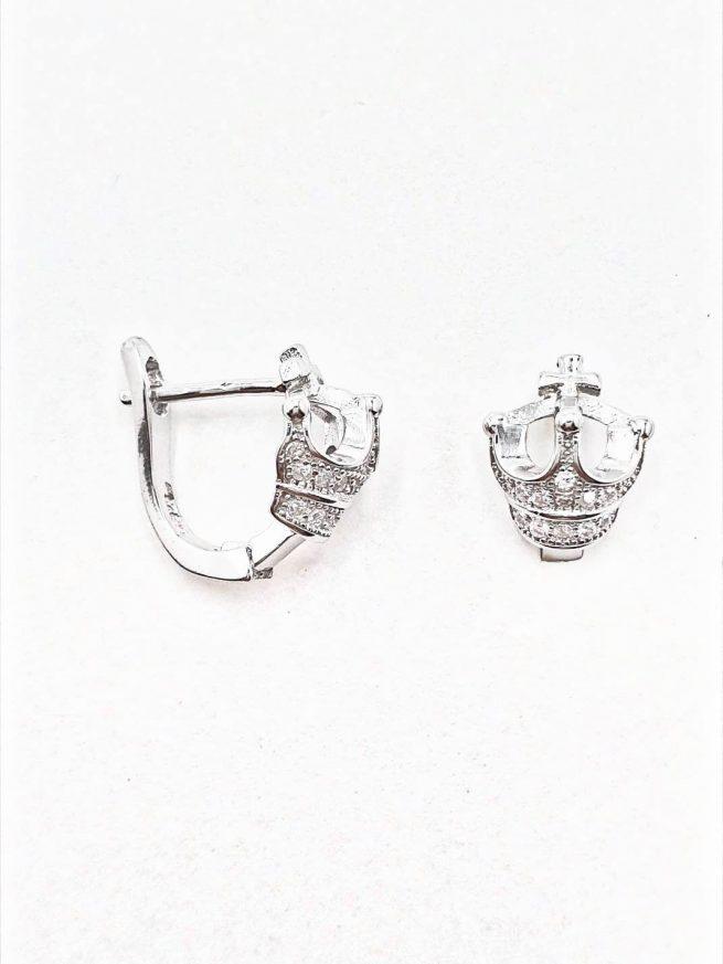 Königin Silber Ohrringe mit Kreuz 2