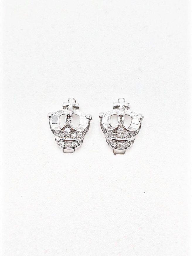Königin Silber Ohrringe mit Kreuz 1