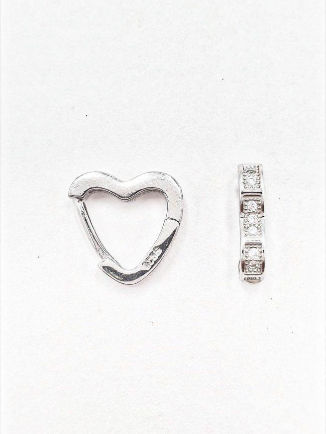 Love Silber Ohrringe 2