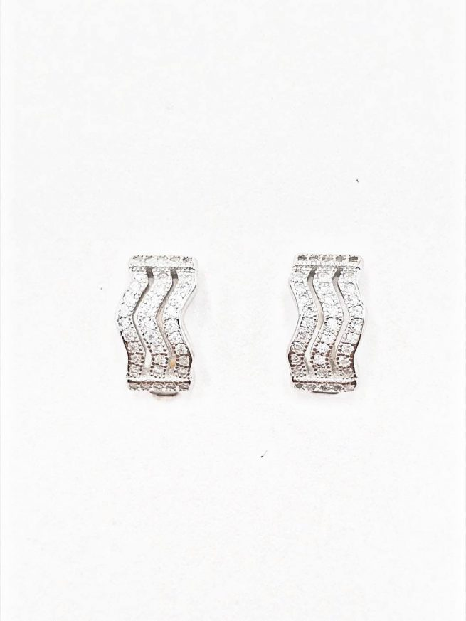 Zikzak Silber Ohrringe 1