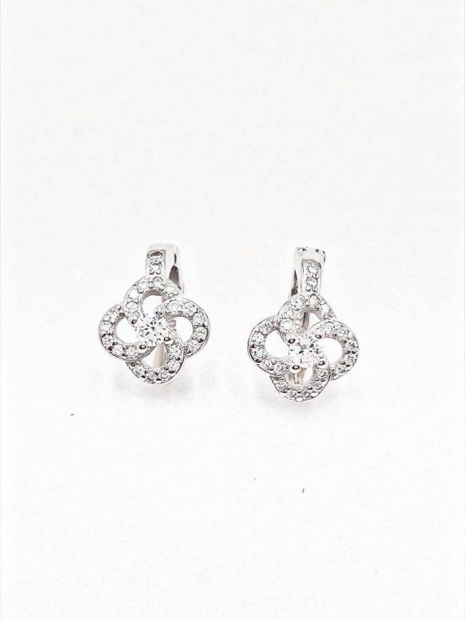 Blume Silber Ohrringe 1