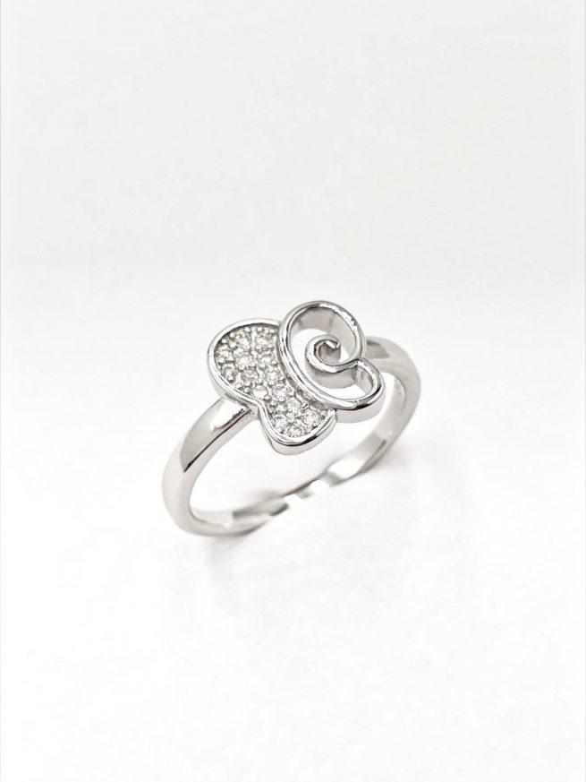 Schmetterlinge Silber Set | Ring+ Ohrringe+Anhänger 2