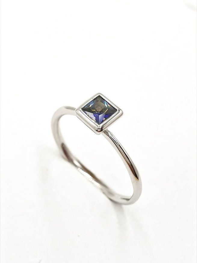 Blue Silber Set | Ring+Ohringe+ Kette mit Anhänger 1