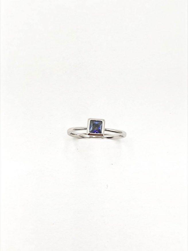 Blue Silber Set | Ring+Ohringe+ Kette mit Anhänger 3