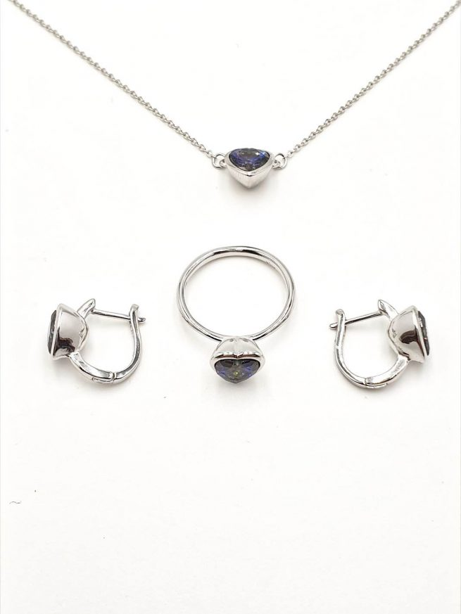 Love Silber Set | Ring+Ohrringe+ Halsette mit Anhänger 2