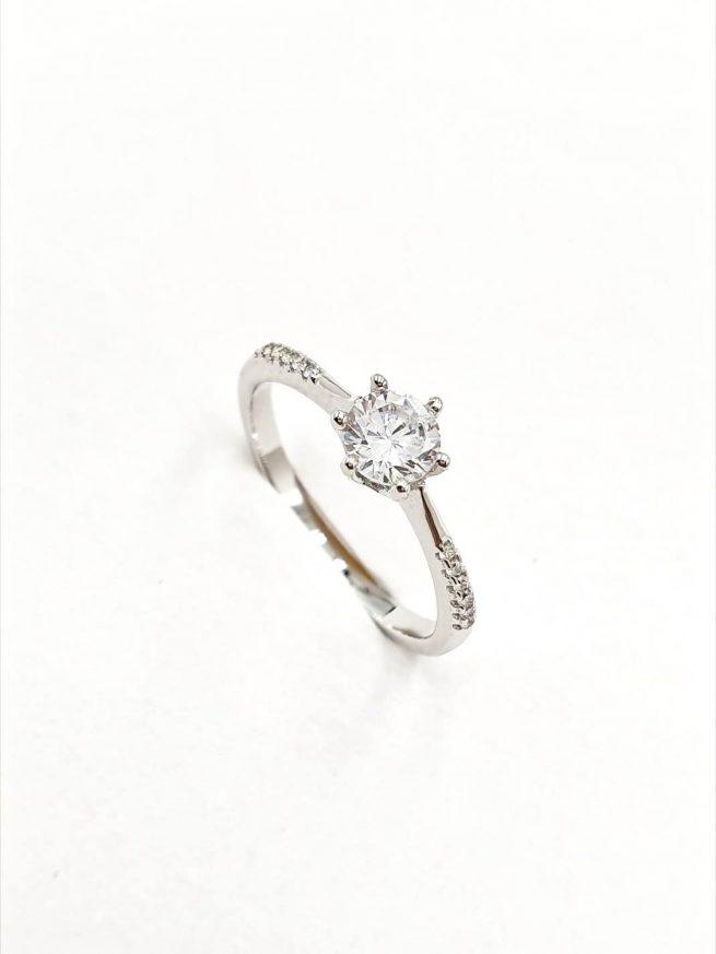 Kristall Silber Ring 1